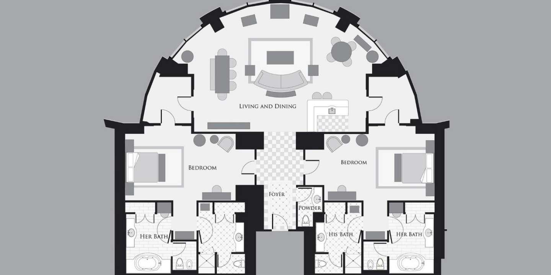 Two Bedroom Grand Lakeview Suite Bellagio Las Vegas