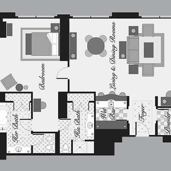 Las Vegas Two Bedroom Suites: Bellagio Hotel & Casino