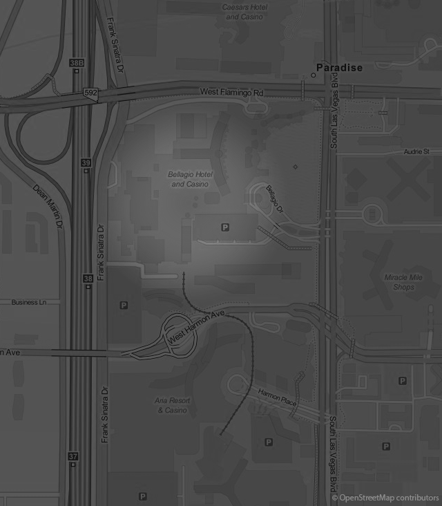 Footer Site Map: Bellagio Hotel & Casino